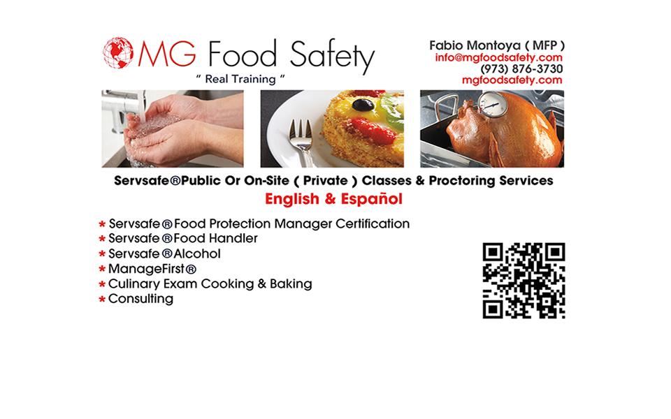 Wayne NJ Food Safety - MG Food Safety , ServSafe®, ServSafe Training ...