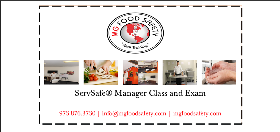 ServSafe® Food Protection Manager Class and Test - MG Food Safety ...