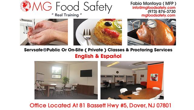 food handlers certificate morris county nj  mg food safety
