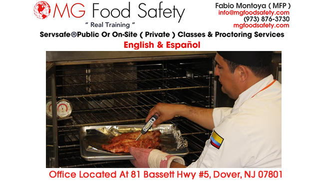 Food Safety Training Courses Jersey City New Jersey