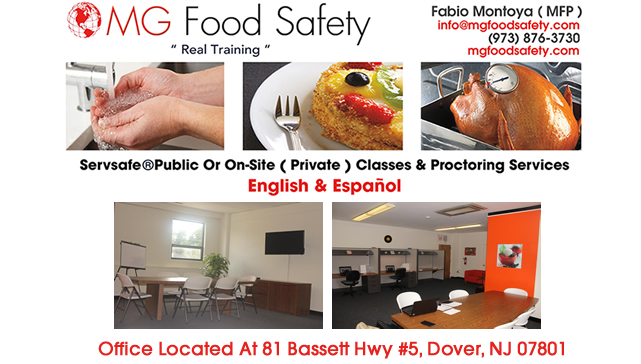 Servsafe Food Safety Course Morristown NJ